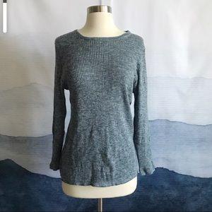 J. Crew Italian Linen blend Ribbed Sweater